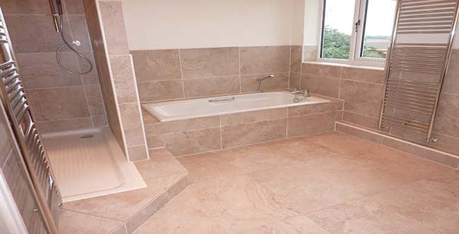 Bathroom Tiles Large durham tiling, bathroom with large porcelain tiles, contemporary
