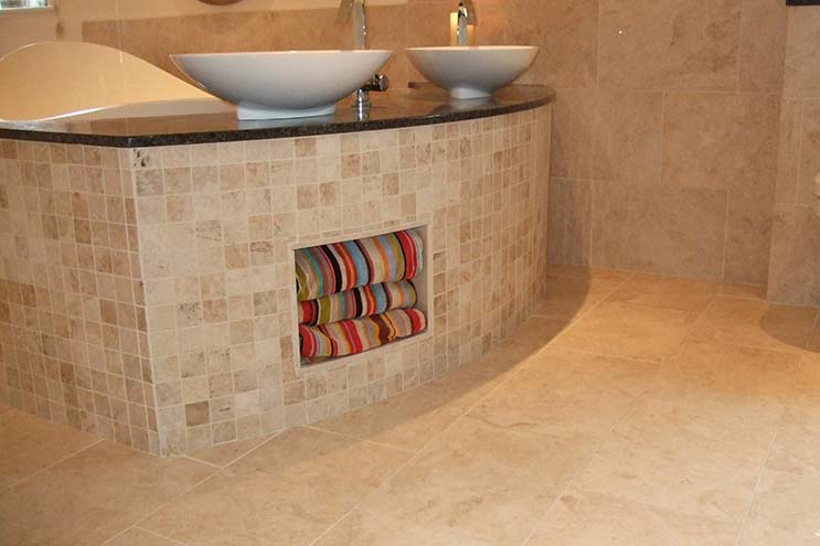 Polished marble floor and wall tiles